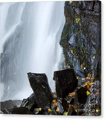 Waterfall In Auvergne Canvas Print by Bernard Jaubert