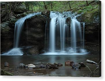 Canvas Print featuring the photograph Waterfall On Flat Fork by Daniel Reed