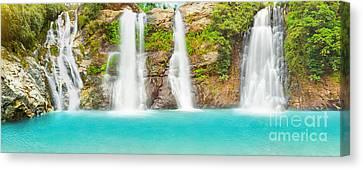 Waterfall Panorama Canvas Print by MotHaiBaPhoto Prints