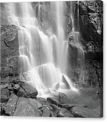 Waterfalls At Chimney Rock State Park Canvas Print by Holden Richards