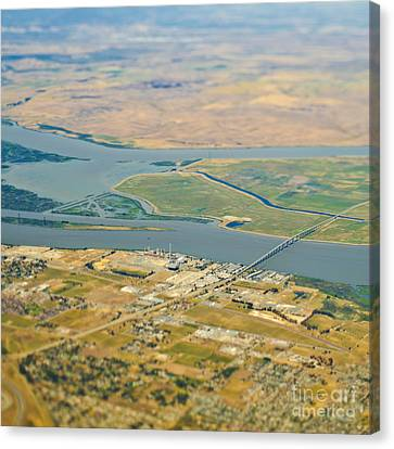 Waterfront Industrial Area Canvas Print by Eddy Joaquim