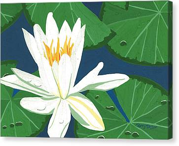 Canvas Print featuring the painting Waterlily by Terry Taylor