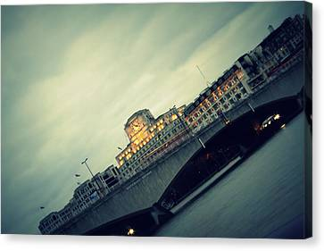 Waterloo Bridge Canvas Print by Jacqui Collett