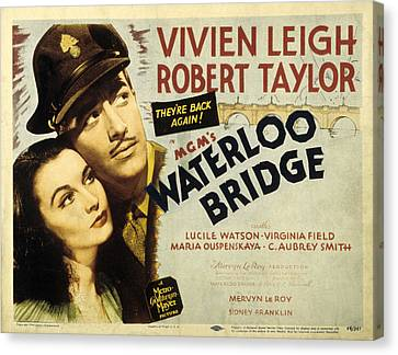 Waterloo Bridge, Vivien Leigh, Robert Canvas Print by Everett