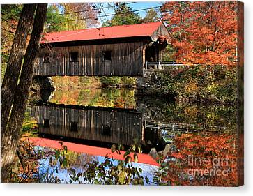 Waterloo Covered Bridge Canvas Print by Butch Lombardi