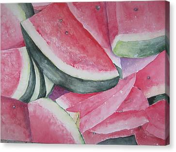 Watermelon Feast Canvas Print