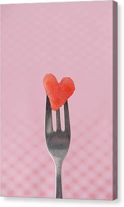 Oslo Canvas Print - Watermelon Heart by Elin Enger