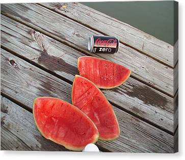 Watermelon Rinds Canvas Print by Charles Weinacker