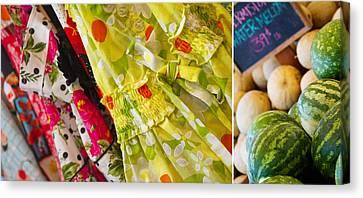 Watermelon Season Canvas Print by Rebecca Cozart