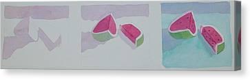 Watermelon Study Canvas Print by Charlotte Hickcox