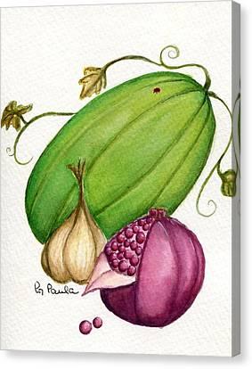 Watermelon Tart Canvas Print by Paula Greenlee