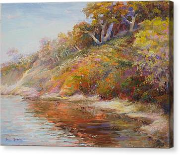 Waters Edge Canvas Print by Bonnie Goedecke