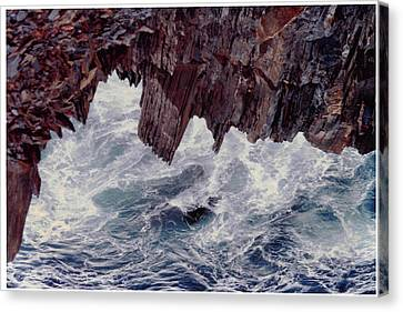 Canvas Print featuring the photograph Water's Fury by Patricia Hiltz