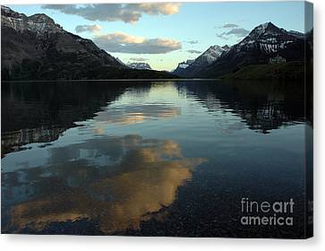 Waterton Lake Sunset Canada Canvas Print by Vivian Christopher