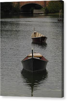 Waterway Boats Canvas Print