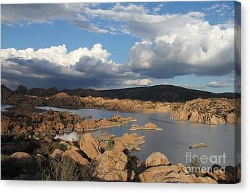Watson Lake 3  Canvas Print by Diane Greco-Lesser
