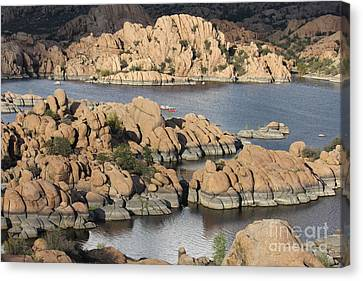 Watson Lake 4  Canvas Print by Diane Greco-Lesser