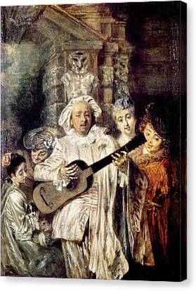 Watteau: Gilles & Family Canvas Print by Granger