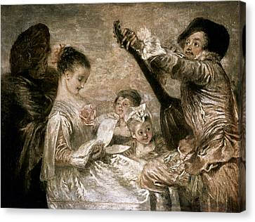 Watteau: Music Canvas Print by Granger