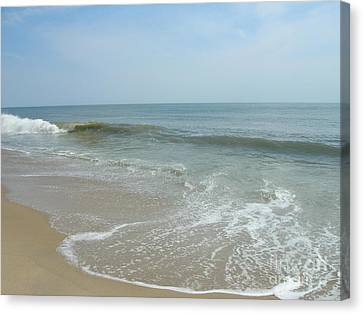 Canvas Print featuring the photograph Wave by Arlene Carmel