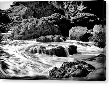 Waves On Leo Carillo State Beach Canvas Print by Ken Wolter