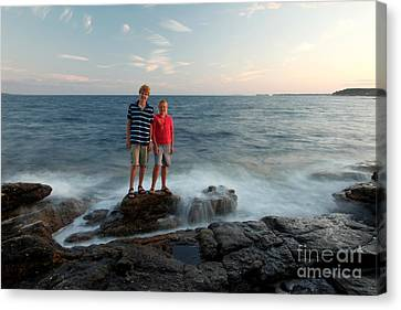 Waves Splash Children Canvas Print by Ted Kinsman