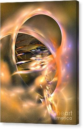 Interior Still Life Canvas Print - Way To Thoughts - Fractal Art by Sipo Liimatainen