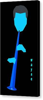 Canvas Print - Wayne Shorter Blue by Victor Bailey
