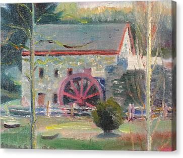 Wayside Inn Mill 2 Canvas Print by Sid Solomon