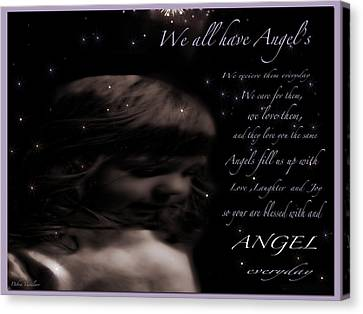 We All Have Angels Canvas Print by Debra     Vatalaro