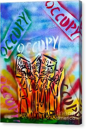 We Occupy Canvas Print by Tony B Conscious