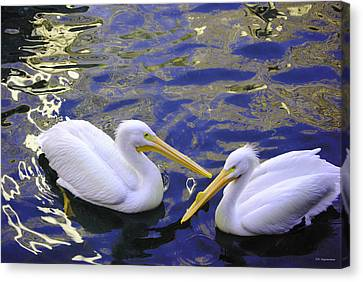 We Share A Heart Canvas Print by DiDi Higginbotham
