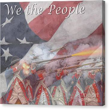 We The People Canvas Print by Randy Steele