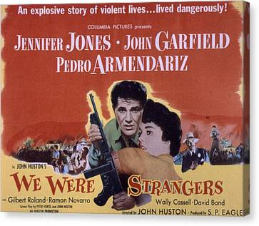 We Were Strangers, John Garfield Canvas Print by Everett
