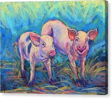 We Won't Be Bacon Canvas Print by Li Newton