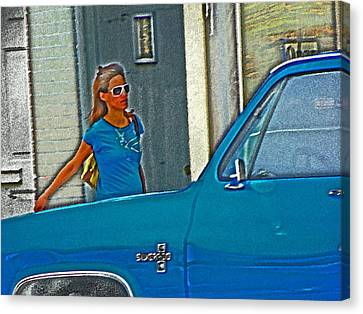 Wearing The City Canvas Print by Lenore Senior