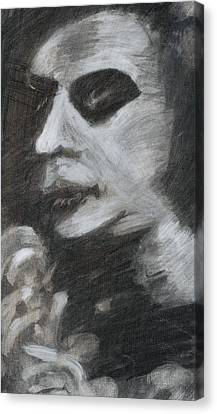Canvas Print featuring the drawing Weary by Denny Morreale