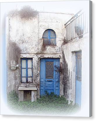 Weathered Greek Building Canvas Print by Carla Parris