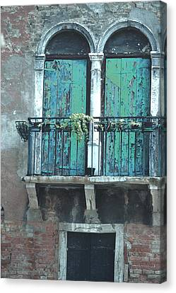 Canvas Print featuring the photograph Weathered Venice Porch by Tom Wurl
