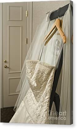 Wedding Dress Canvas Print by Ned Frisk