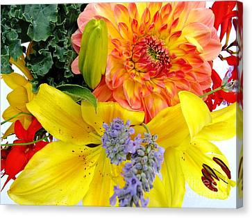 Canvas Print featuring the photograph Wedding Flowers by Rory Sagner