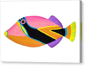 Wedge Tail Triggerfish  Canvas Print by Opas Chotiphantawanon