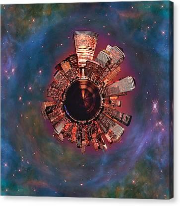 Wee Manhattan Planet Canvas Print by Nikki Marie Smith