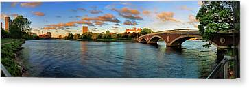 Weeks' Bridge Panorama Canvas Print by Rick Berk