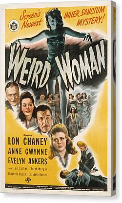 Weird Woman, Anne Gwynne Top, Lon Canvas Print by Everett