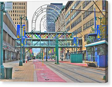 Canvas Print featuring the photograph Welcome No 2 by Michael Frank Jr