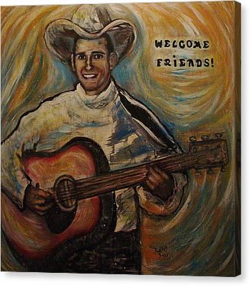 Welcome Canvas Print by Regina Brandt