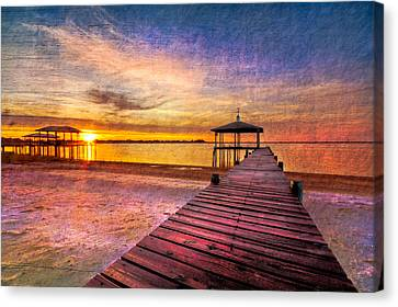 Welcome The Morning Canvas Print by Debra and Dave Vanderlaan