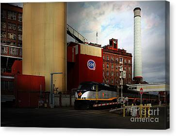 Welcome To Crockett California Blue Collar Usa . 7d8856 Canvas Print by Wingsdomain Art and Photography