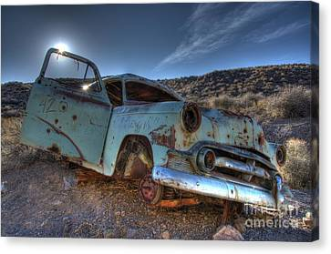 Welcome To Death Valley Canvas Print by Bob Christopher